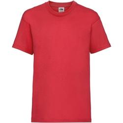 Vêtements Enfant T-shirts manches courtes Fruit Of The Loom 61033 Rouge