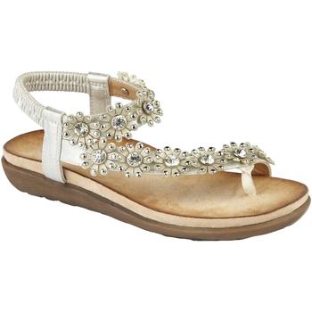 Chaussures Femme Sandales et Nu-pieds Cipriata Flower Argent