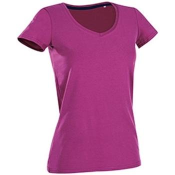 Vêtements Femme T-shirts manches courtes Stedman Stars Claire Violet