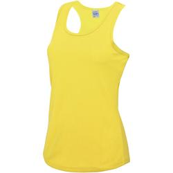 Vêtements Femme Débardeurs / T-shirts sans manche Just Cool Girlie Jaune soleil