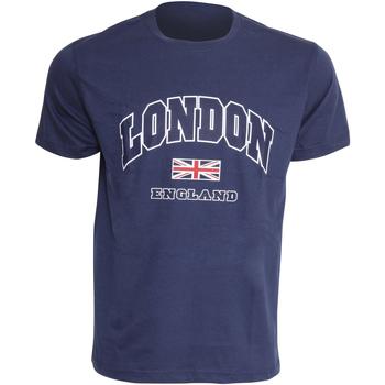 Vêtements Homme T-shirts manches courtes England Casual Bleu marine