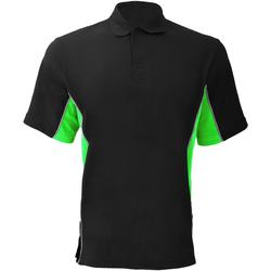 Vêtements Homme Polos manches courtes Gamegear KK475 Noir/Citron vert/Blanc