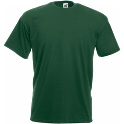 Vêtements Homme T-shirts manches courtes Fruit Of The Loom Valueweight Vert bouteille