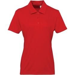 Vêtements Femme Polos manches courtes Tridri Panel Rouge feu