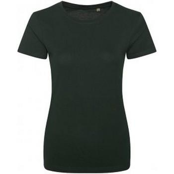 Vêtements Femme T-shirts manches courtes Ecologie Organic Vert bouteille