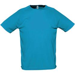 Vêtements Homme T-shirts manches courtes Sols Performance turquoise