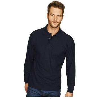 Vêtements Homme Polos manches longues Casual Classics Classic Bleu marine