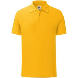 Vêtements Homme Polos manches courtes Fruit Of The Loom Iconic Jaune