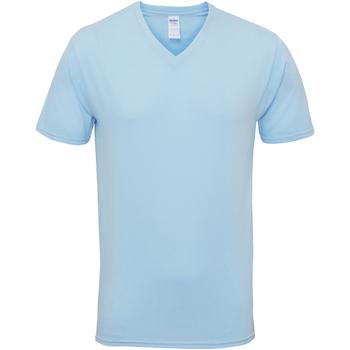 Vêtements Homme T-shirts manches courtes Gildan Premium Bleu clair