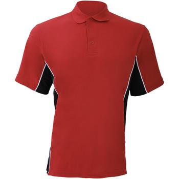 Vêtements Homme Polos manches courtes Gamegear KK475 Rouge/Noir/Blanc