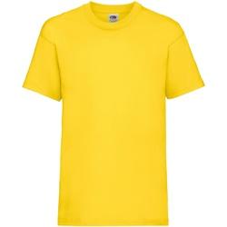 Vêtements Enfant T-shirts manches courtes Fruit Of The Loom 61033 Jaune