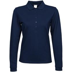 Vêtements Femme Polos manches longues Tee Jays Stretch Bleu marine