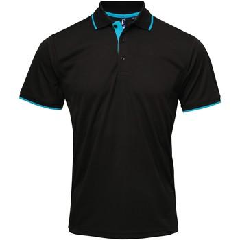 Vêtements Homme Polos manches courtes Premier Coolchecker Noir/Turquoise
