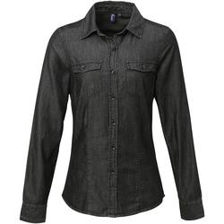 Vêtements Femme Chemises / Chemisiers Premier Stitch Noir denim