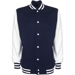 Vêtements Blousons Fdm Contrast Bleu marine/Blanc