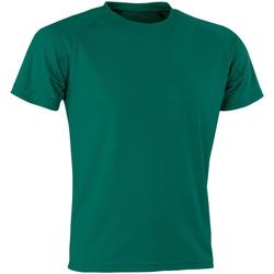 Vêtements Homme T-shirts manches courtes Spiro Aircool Vert bouteille