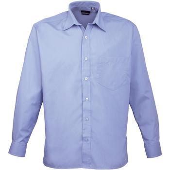 Vêtements Homme Chemises manches longues Premier PR200 Bleu moyen