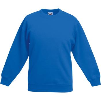 Vêtements Enfant Sweats Fruit Of The Loom Classics Bleu roi