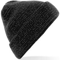 Accessoires textile Bonnets Beechfield Reflective Noir