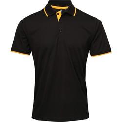 Vêtements Homme Polos manches courtes Premier Coolchecker Noir/Jaune tournesol