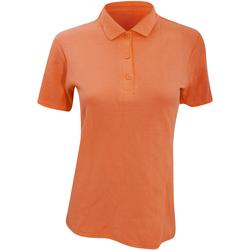 Vêtements Femme Polos manches courtes Anvil Pique Orange mandarin