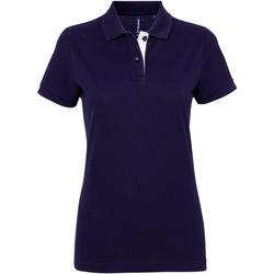 Vêtements Femme Polos manches courtes Toutes les chaussures femme Contrast Bleu marine/Blanc