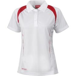 Vêtements Femme Polos manches courtes Spiro Performance Blanc/Rouge
