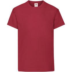 Vêtements Enfant T-shirts manches courtes Fruit Of The Loom Original Rouge brique