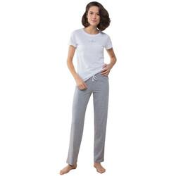 Vêtements Femme Pyjamas / Chemises de nuit Towel City TC053 Blanc/Gris