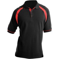 Vêtements Homme Polos manches courtes Kustom Kit KK615 Noir/Rouge vif