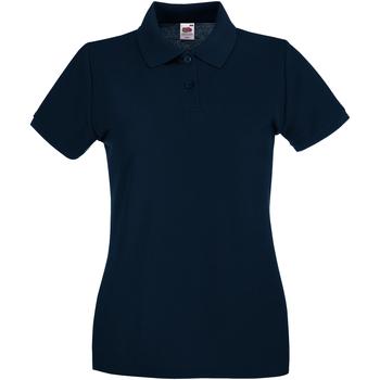 Vêtements Femme Polos manches courtes Fruit Of The Loom Premium Bleu marine profond