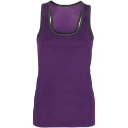Vêtements Femme Débardeurs / T-shirts sans manche Tridri Panel Pourpre/Gris foncé