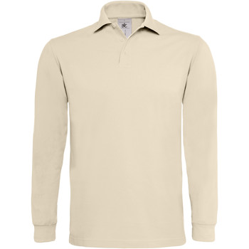 Vêtements Homme Polos manches longues B And C Heavymill Sable