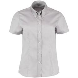 Vêtements Femme Chemises / Chemisiers Kustom Kit Oxford Gris argenté