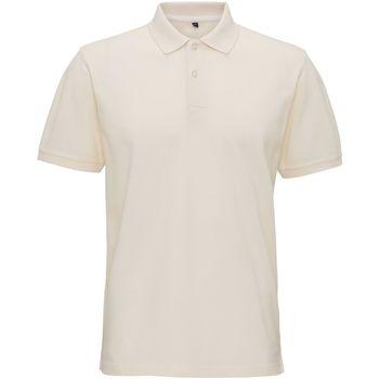 Vêtements Homme Polos manches courtes Asquith & Fox AQ017 Blanc ancien