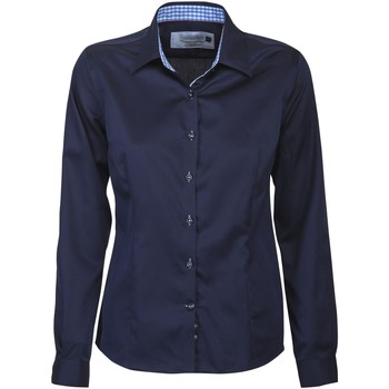 Vêtements Femme Chemises / Chemisiers J Harvest & Frost JF006 Bleu marine/Bleu ciel