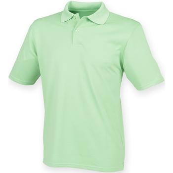Vêtements Homme Polos manches courtes Henbury HB475 Vert citron