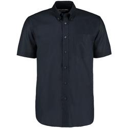 Vêtements Homme Chemises manches courtes Kustom Kit Oxford Bleu marine