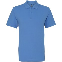 Vêtements Homme Polos manches courtes Asquith & Fox AQ010 Bleu pâle
