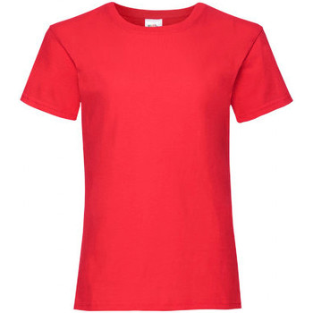 Vêtements Fille T-shirts manches courtes Fruit Of The Loom 61005 Rouge