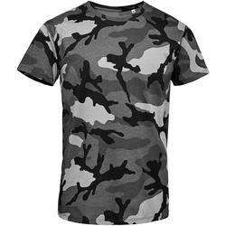 Vêtements Homme T-shirts manches courtes Sols Camo Gris