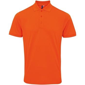 Vêtements Homme Polos manches courtes Premier Coolchecker Orange
