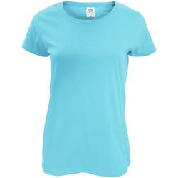 Vêtements Femme T-shirts manches courtes Fruit Of The Loom Original Bleu ciel