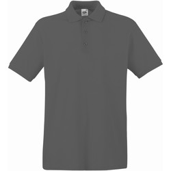 Vêtements Homme Polos manches courtes Fruit Of The Loom Premium Gris