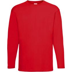 Vêtements Homme T-shirts manches longues Universal Textiles 61038 Rouge vif