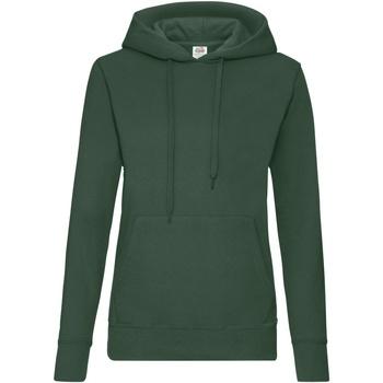 Vêtements Femme Sweats Fruit Of The Loom Hooded Vert bouteille