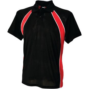 Vêtements Homme Polos manches courtes Finden & Hales Jersey Noir/Rouge/Blanc