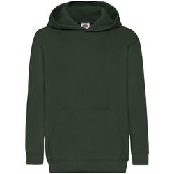 Vêtements Enfant Sweats Fruit Of The Loom Hooded Vert foncé