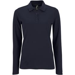 Vêtements Femme Polos manches longues Sols Pique Bleu marine