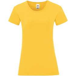 Vêtements Femme T-shirts manches courtes Fruit Of The Loom 61432 Jaune